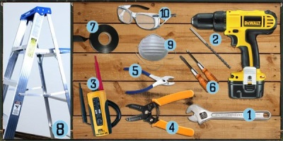 Tools to install ceiling fan